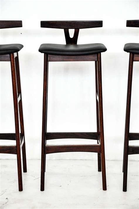 rosewood  leather bar stools denmark  bar