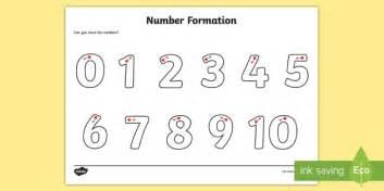 Number Formation Worksheet / Activity Sheet