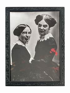 Cadre Deco Noir Et Blanc : cadre noir et blanc 36 x 48 cm halloween deguise toi achat de decoration animation ~ Melissatoandfro.com Idées de Décoration