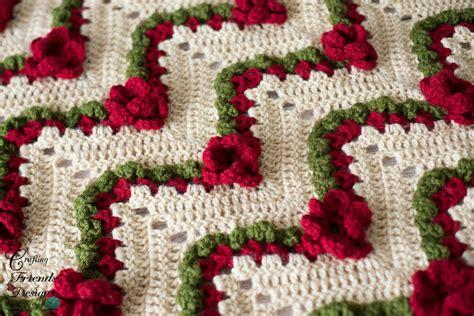 flower garden chevron afghan crochet pattern