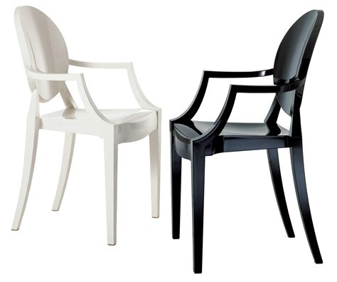 louis ghost stackable armchair polycarbonate opaque
