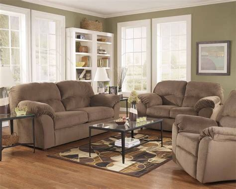 color living room  tan couches small living