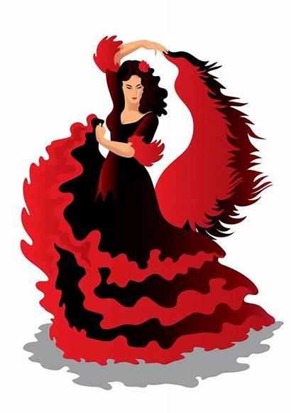 Clipart Mexican Dancing Clip Dancers Flamenco