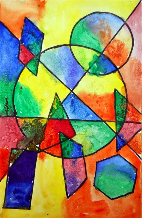 Abstract Painting Using Shapes by Adventures Of An 4th Grade Shape Paintings