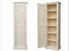 Furniture Espresso Wooden Tall Narrow Storage Cabinet
