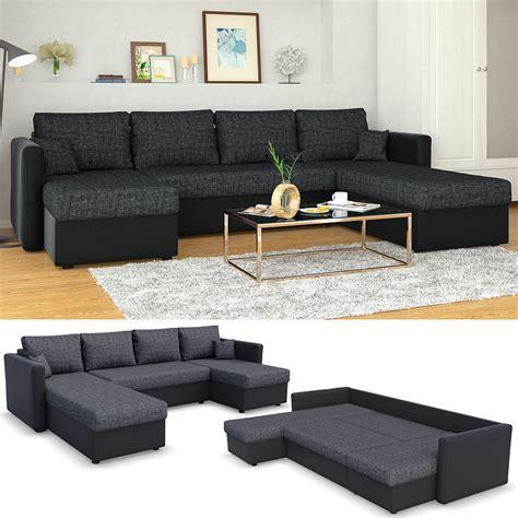 sofa mit schlaffunktion sofa mit schlaffunktion 290 x 185 cm schwarz real