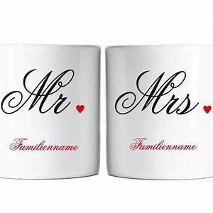 Tasse Mr Mrs : privat tasse hochzeitstassen mr mrs individuell preiswerte hochzeiten ~ Teatrodelosmanantiales.com Idées de Décoration