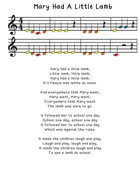 The site features high quality sheet music with lyrics and chord symbols for children's songs, christmas carols, and more. Mary Had a Little Lamb for boomwhackers   Boomwhackers, Schools first, Music stuff