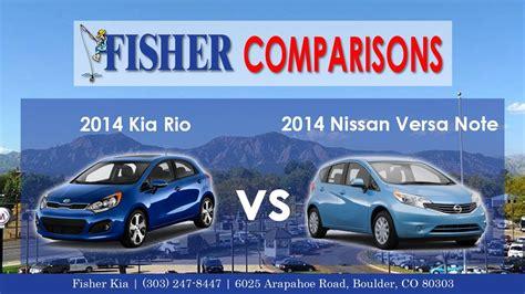2014 Kia Rio 5 Door Vs. 2014 Nissan Versa Note