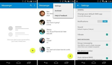 android messenger here s the new messenger app from lollipop