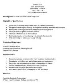 entry level makeup artist resume sle exles of resumes for makeup artists bestsellerbookdb