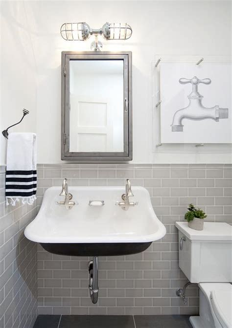 gray  black kids bathroom  pharmacy wall mount