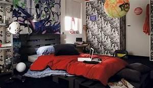 Deco Chambre Ado Garcon : deco chambre ado garcon rock ~ Teatrodelosmanantiales.com Idées de Décoration