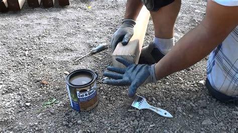 seal cut ends  pressure treated lumber youtube