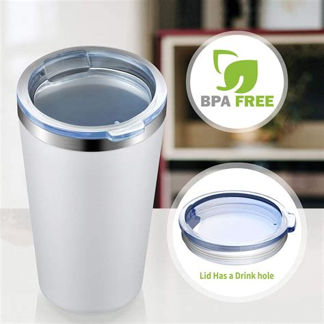 Pla (biodegradable) coffee cups & lids. MEWAY 16oz Tumbler 8 Pack Stainless Steel Travel Coffee Mug with Lid ,Double Wall Insulated ...