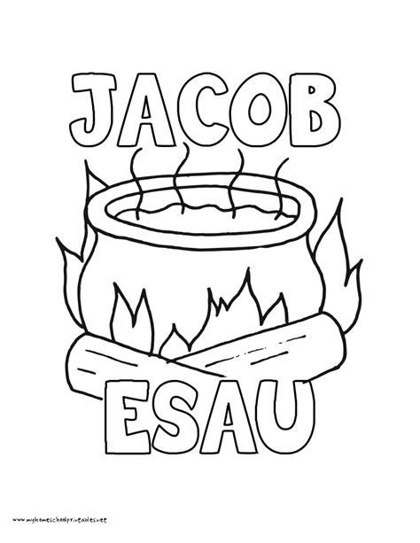 Jacob En Ezau Kleurplaat by Jacob And Esau Coloring Page Coloring Home