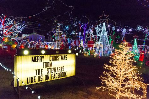 stewart family christmas light display only in arkansas