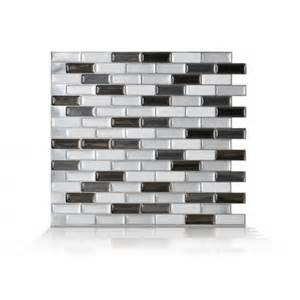 self stick kitchen backsplash peel and stick backsplash murano metallik smart tiles