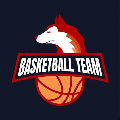 Basketball Team Fox Badge Concept Mascot Vector