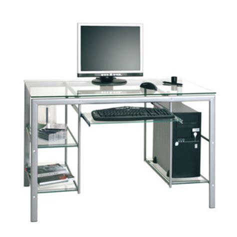 bureau informatique en verre bureau pour ado poste informatique et espace de travail
