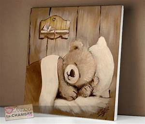 Tableau Deco Chambre : tableau ourson souris pour la dco de bb vente tableau ourson pour chambre d 39 enfants ~ Teatrodelosmanantiales.com Idées de Décoration