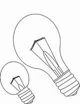 Bulb Coloring Printable Educativeprintable sketch template