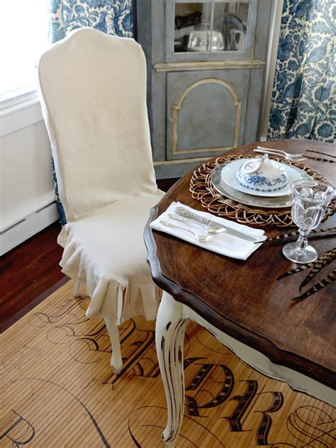 custom dining chair slipcover hgtv