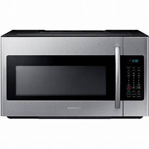 Samsung 30 In  W 1 8 Cu  Ft  Over The Range Microwave In Stainless Steel With Sensor Cooking