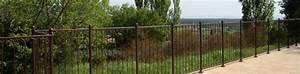 Barriere Protection Piscine : barri re de piscine en fer forg avec peinture antirouille brun chocolat ~ Melissatoandfro.com Idées de Décoration