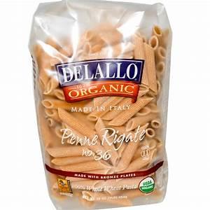 DeLallo, Penne Rigate No. 36, 100% Organic Whole Wheat ...