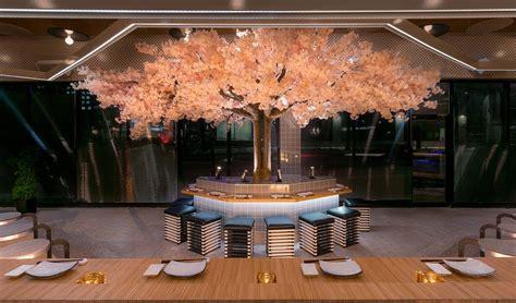 le blossom  japanese restaurant design  menard dworkind