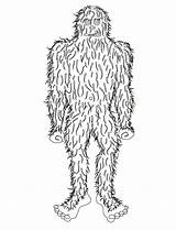 Coloring Bigfoot Pages Sasquatch Template Templates Popular sketch template