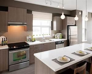 cuisine avec ilot central 7 facons de lamenager With salle À manger contemporaine avec ilot cuisine gris