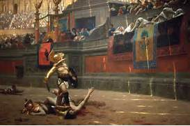 Russ   s Art Blog  Seeing it in real life     Pollice Verso      Jean Leon Gerome Pollice Verso