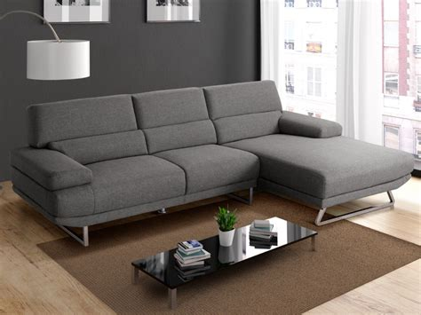 canapé tissu moderne canapé d 39 angle en tissu moderne gris et beige vinga