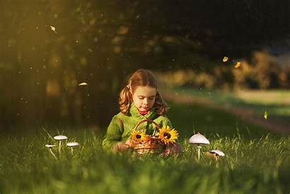 Children Flowers Play Nature Happy Child Wallpapers