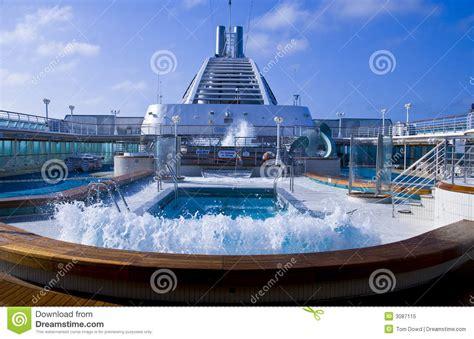 cruise ship pool wave stock image image of railing