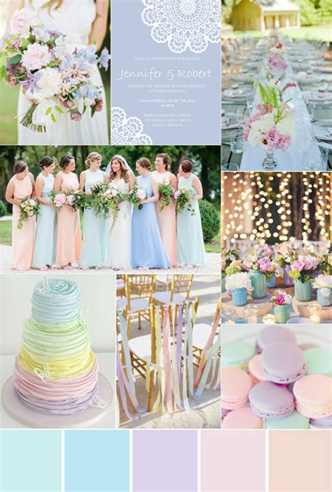 pastel wedding colors seven gorgeous garden wedding color palettes