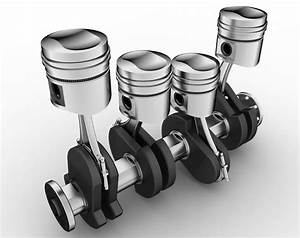 Pistons  Cylinders  Rods And A Crankshaft