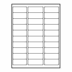 amazoncom 3 000 standard address labels 1 x 2 5 8 With avery label sizes 30 per sheet
