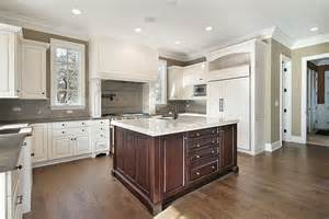 second kitchen island 31 quot quot custom white kitchens with wood islands