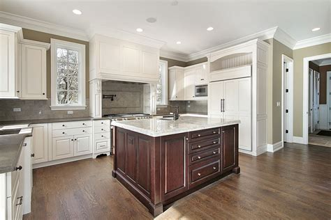white kitchen wood island 31 quot quot custom white kitchens with wood islands
