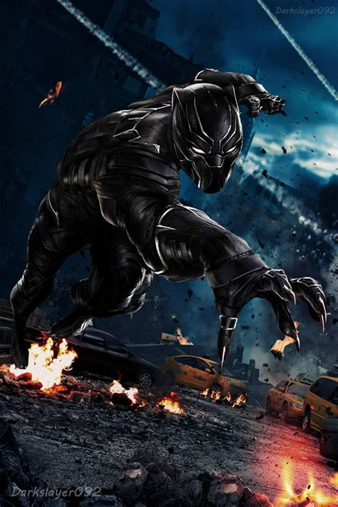 Black Panther Hd Wallpaper For Mobile by Black Panther Civil War Mobile Wallpaper Wallpaper Hubs