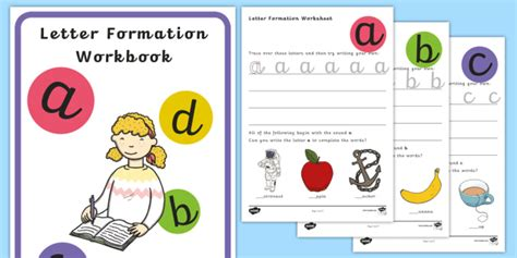 precursive letter formation activity booklet letter