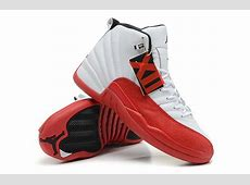 Air Jordan 12 Retro WhiteVarsity RedBlack Cheap For Sale