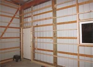 Pole barn wall framing page 3 the garage journal board for Pole barn garage interior ideas