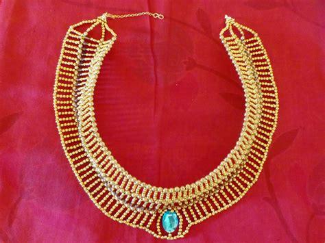 elegant egyptian diy necklace allfreejewelrymakingcom
