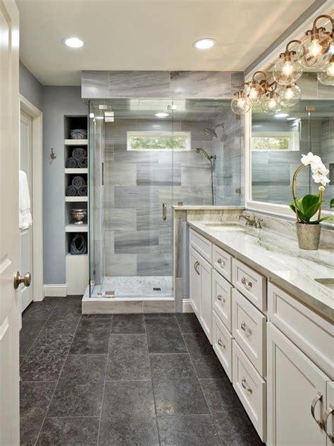 master bathroom  globe sconces quartzite counters