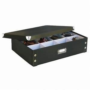 Boite Rangement Carton : boite rangement cravates et ceintures carton noir zeller 17789 ~ Teatrodelosmanantiales.com Idées de Décoration