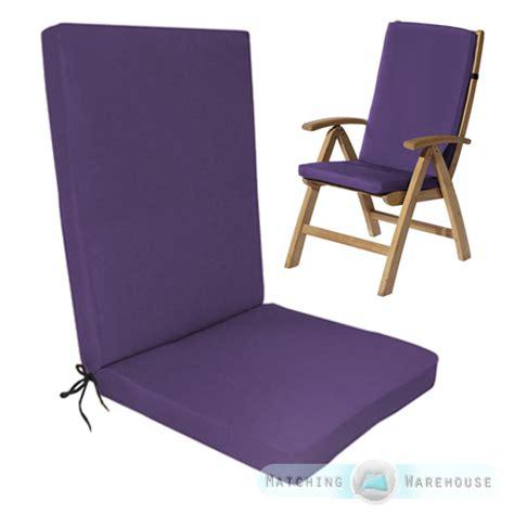 highback garden dining chair cushion pad outdoor furniture
